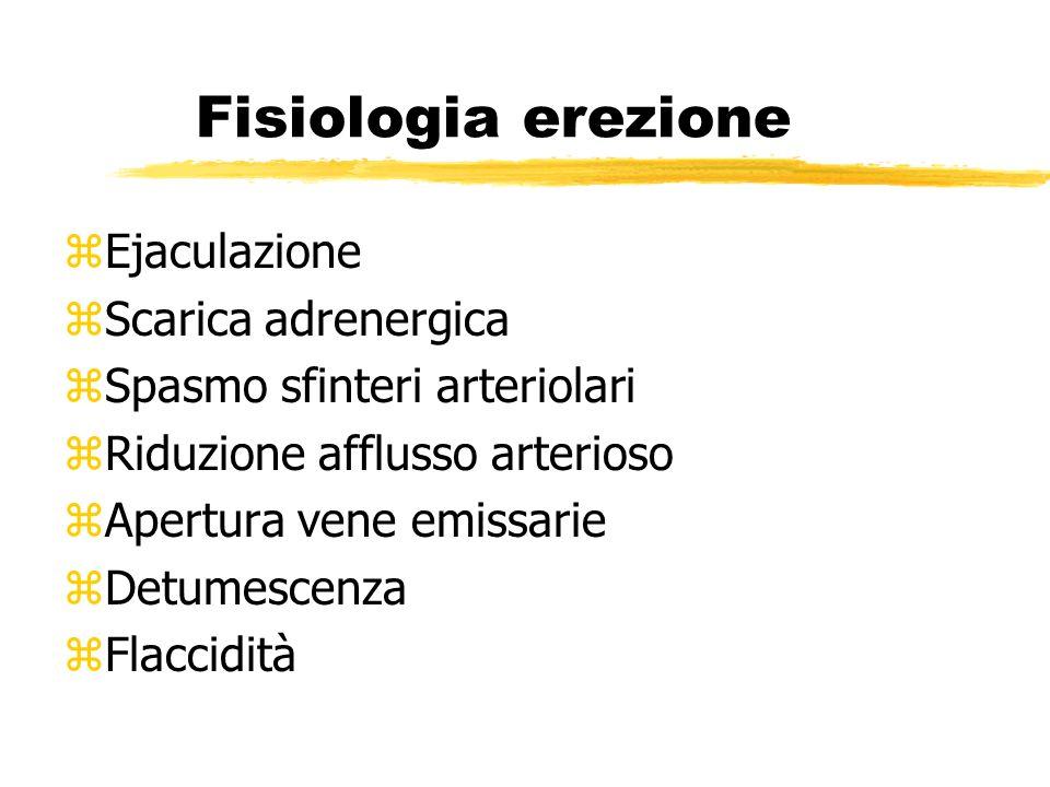 Fisiologia erezione Ejaculazione Scarica adrenergica