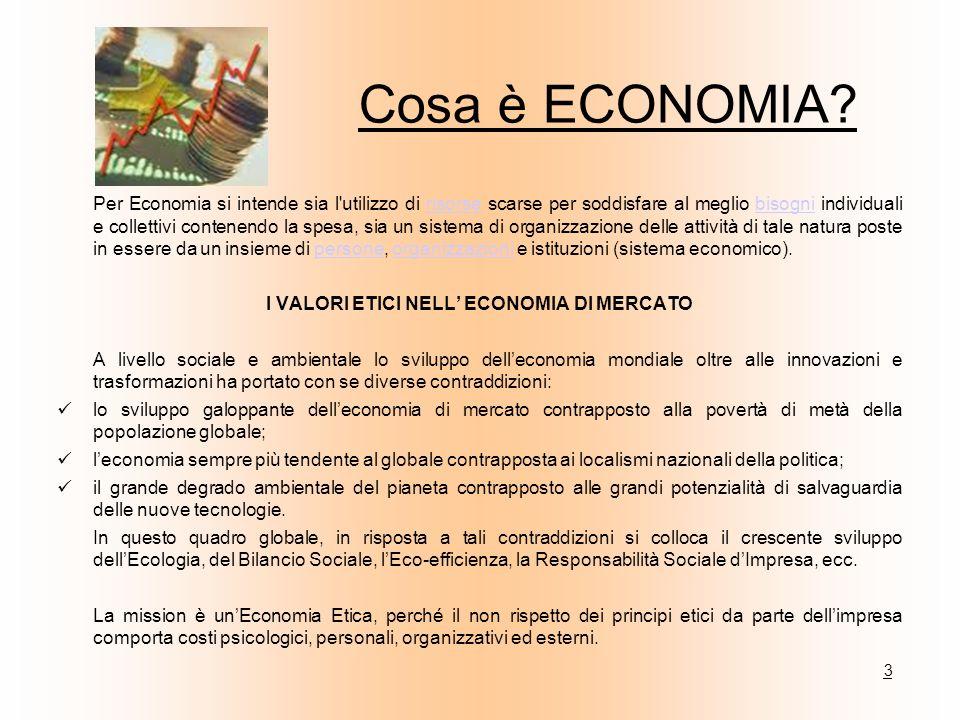 I VALORI ETICI NELL' ECONOMIA DI MERCATO
