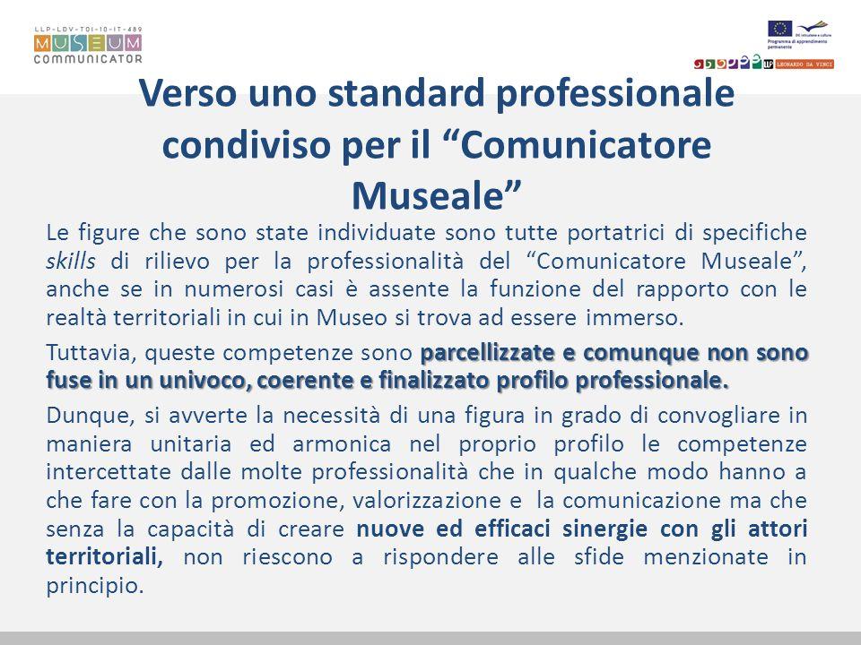 Verso uno standard professionale condiviso per il Comunicatore Museale