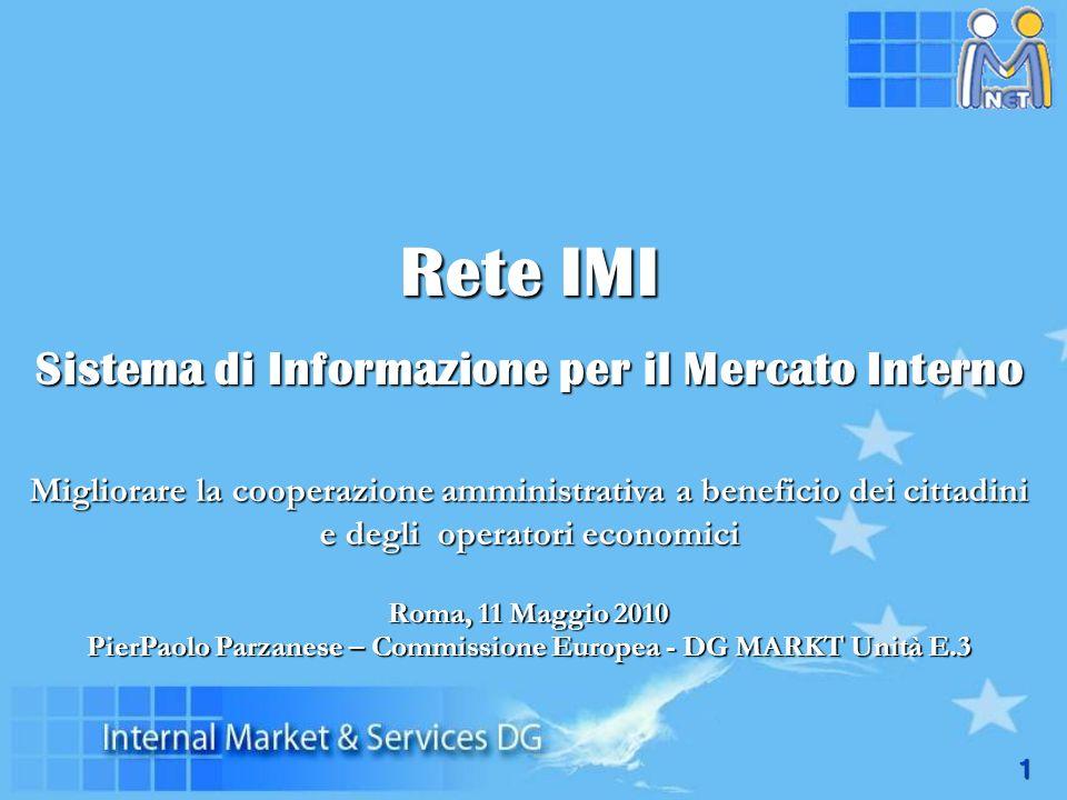 Rete IMI Sistema di Informazione per il Mercato Interno