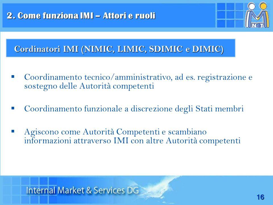 Cordinatori IMI (NIMIC, LIMIC, SDIMIC e DIMIC)