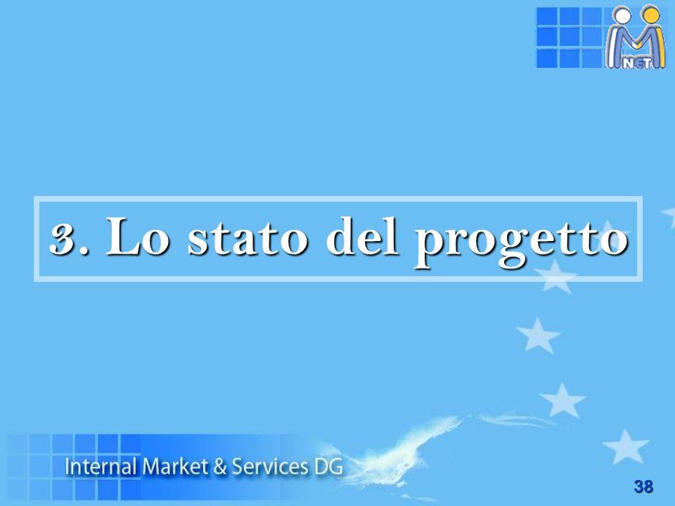 3. Lo stato del progetto