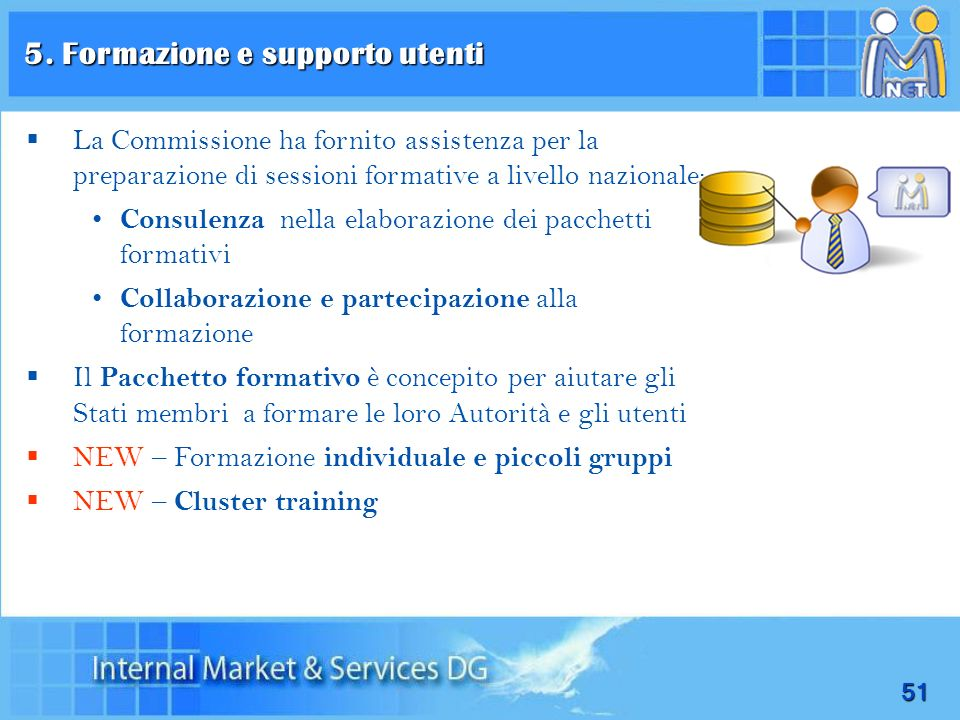 5. Formazione e supporto utenti