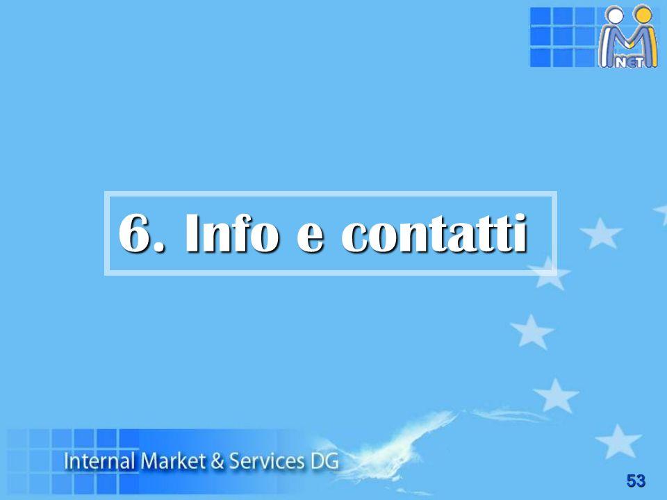 6. Info e contatti