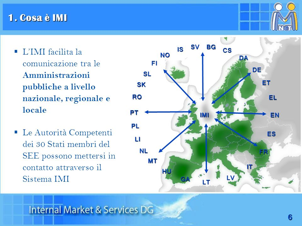 1. Cosa è IMISV. BG. L'IMI facilita la comunicazione tra le Amministrazioni pubbliche a livello nazionale, regionale e locale.