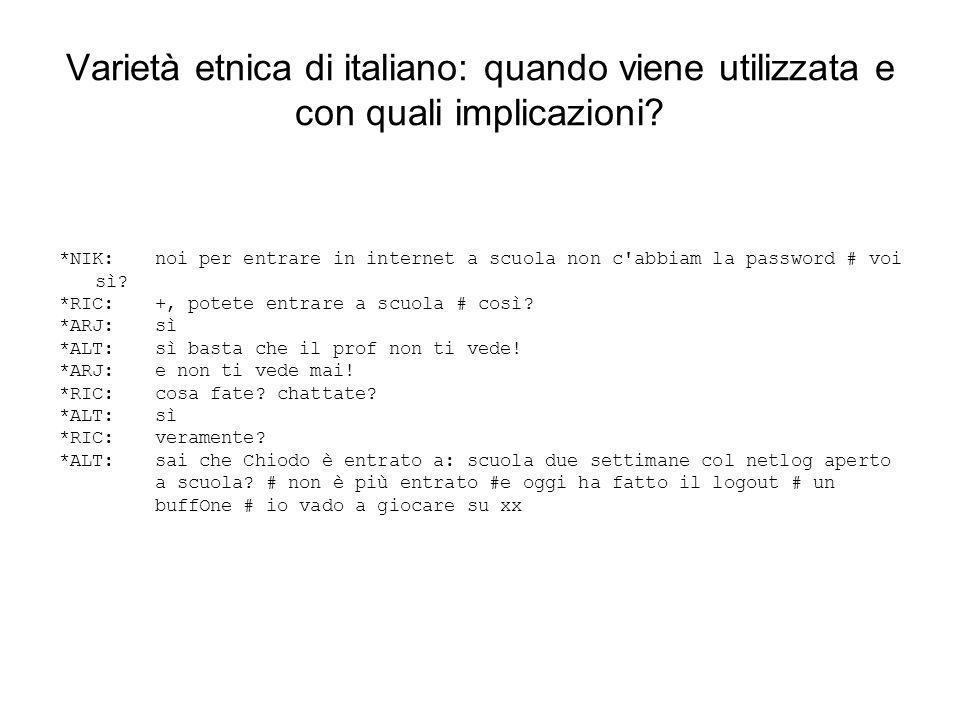 Varietà etnica di italiano: quando viene utilizzata e con quali implicazioni
