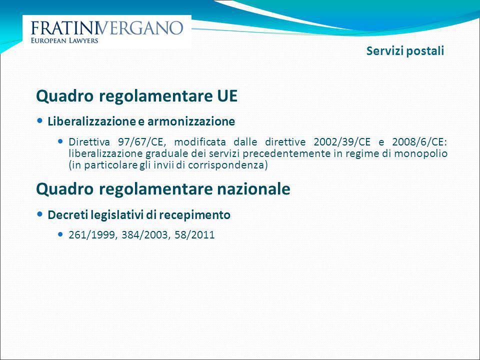 Quadro regolamentare UE