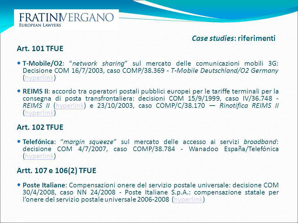 Case studies: riferimenti