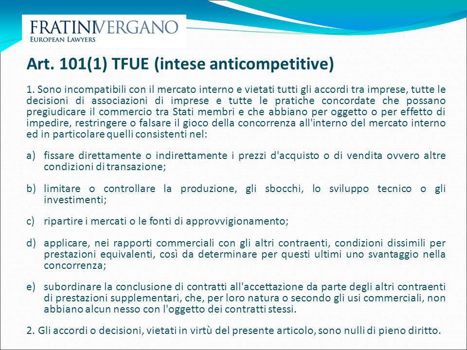 Art. 101(1) TFUE (intese anticompetitive)