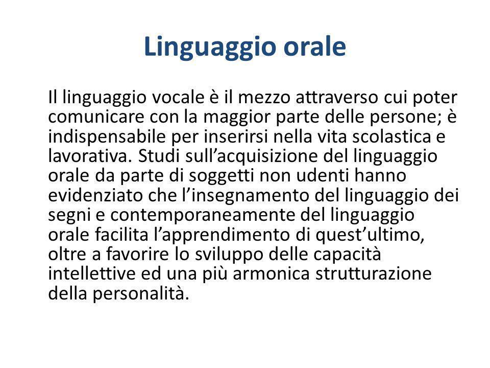 Linguaggio orale