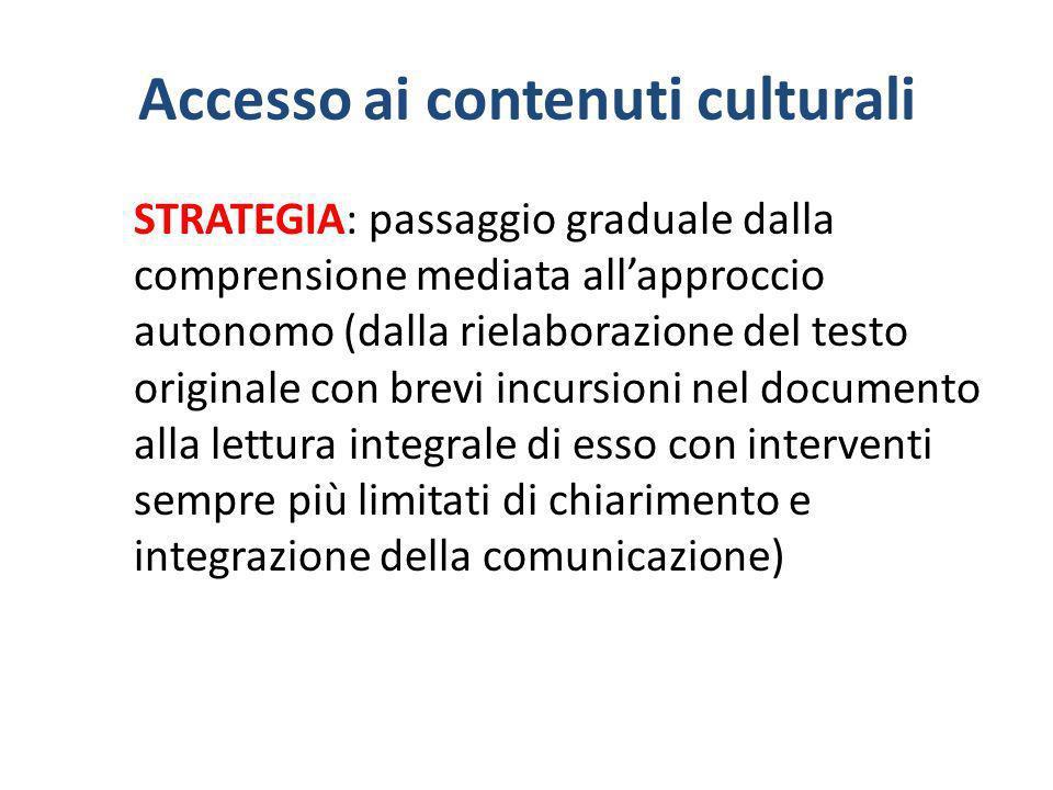 Accesso ai contenuti culturali