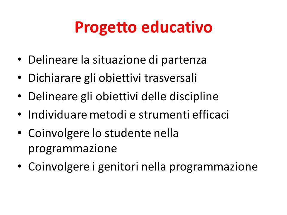 Progetto educativo Delineare la situazione di partenza