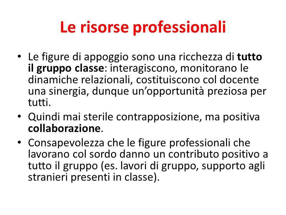 Le risorse professionali