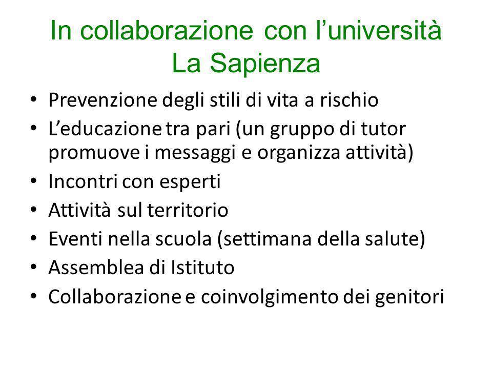 In collaborazione con l'università La Sapienza