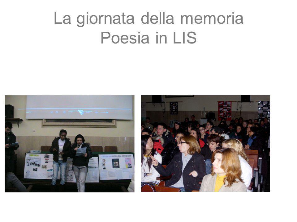 La giornata della memoria Poesia in LIS