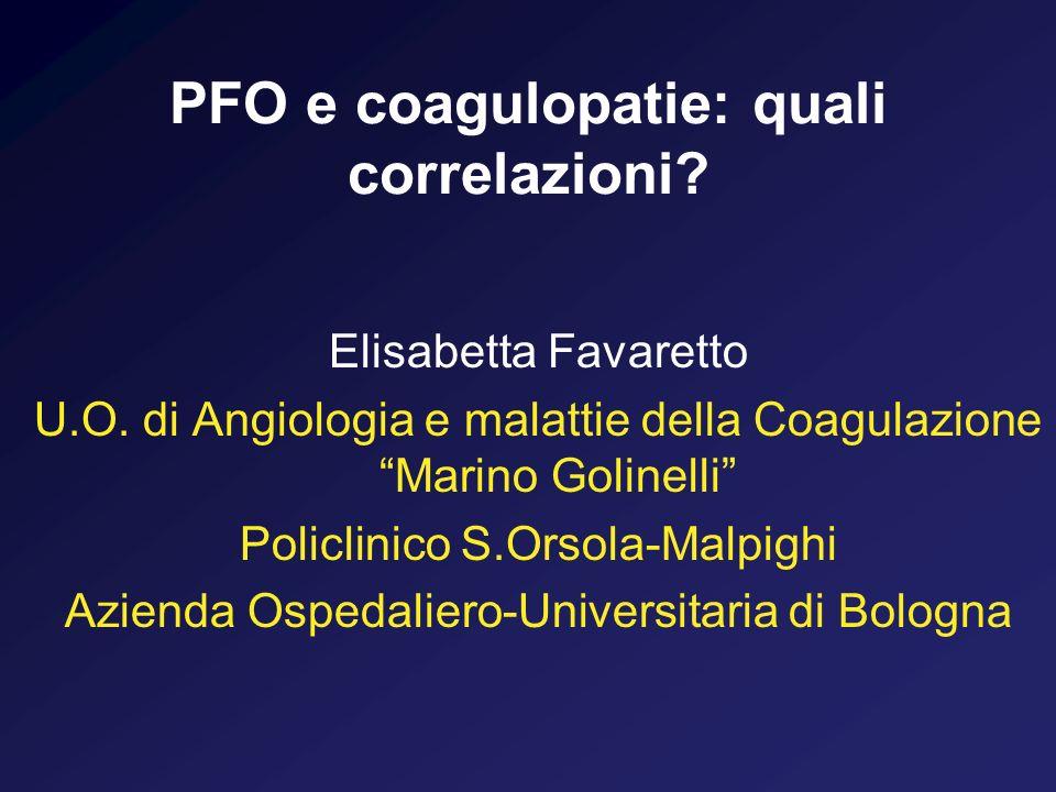 PFO e coagulopatie: quali correlazioni