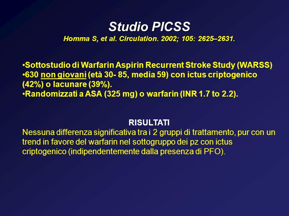 Homma S, et al. Circulation. 2002; 105: 2625–2631.