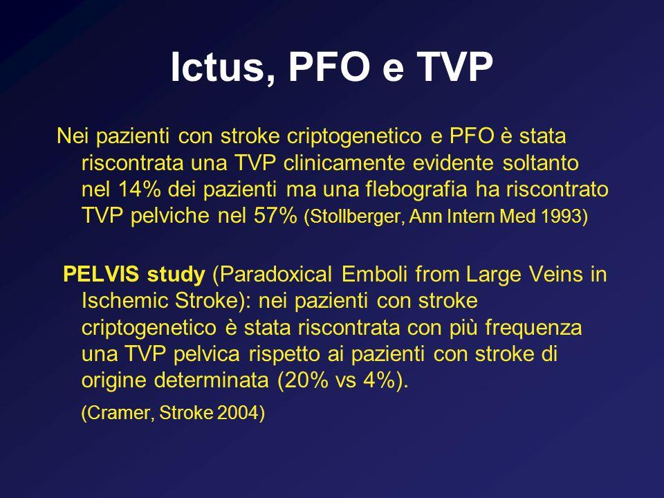 Ictus, PFO e TVP