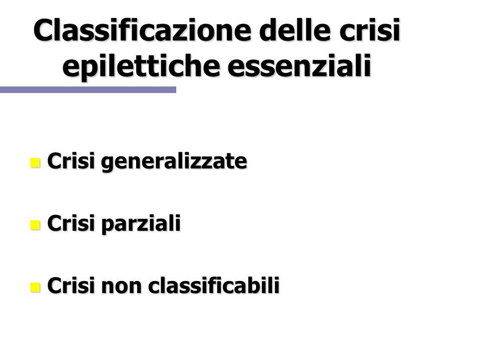 Classificazione delle crisi epilettiche essenziali
