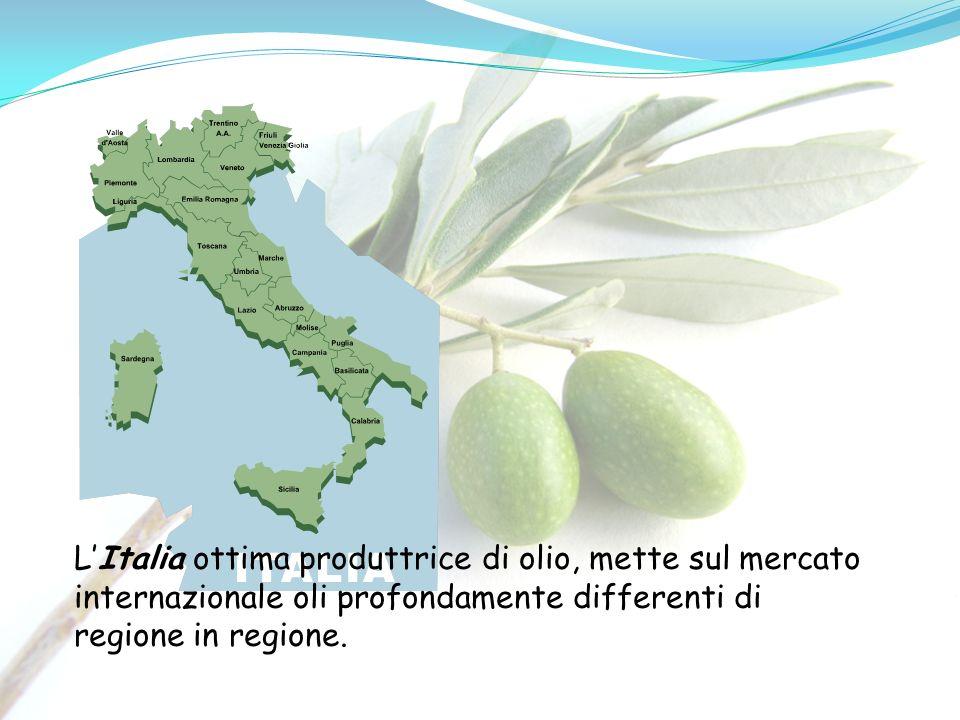 L'Italia ottima produttrice di olio, mette sul mercato internazionale oli profondamente differenti di regione in regione.