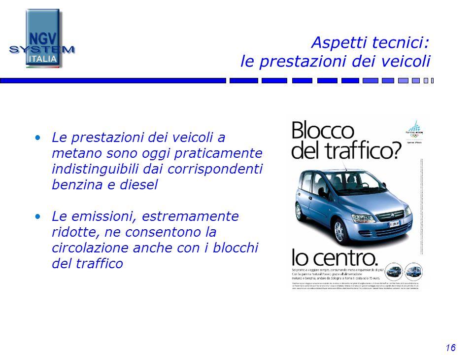 Aspetti tecnici: le prestazioni dei veicoli