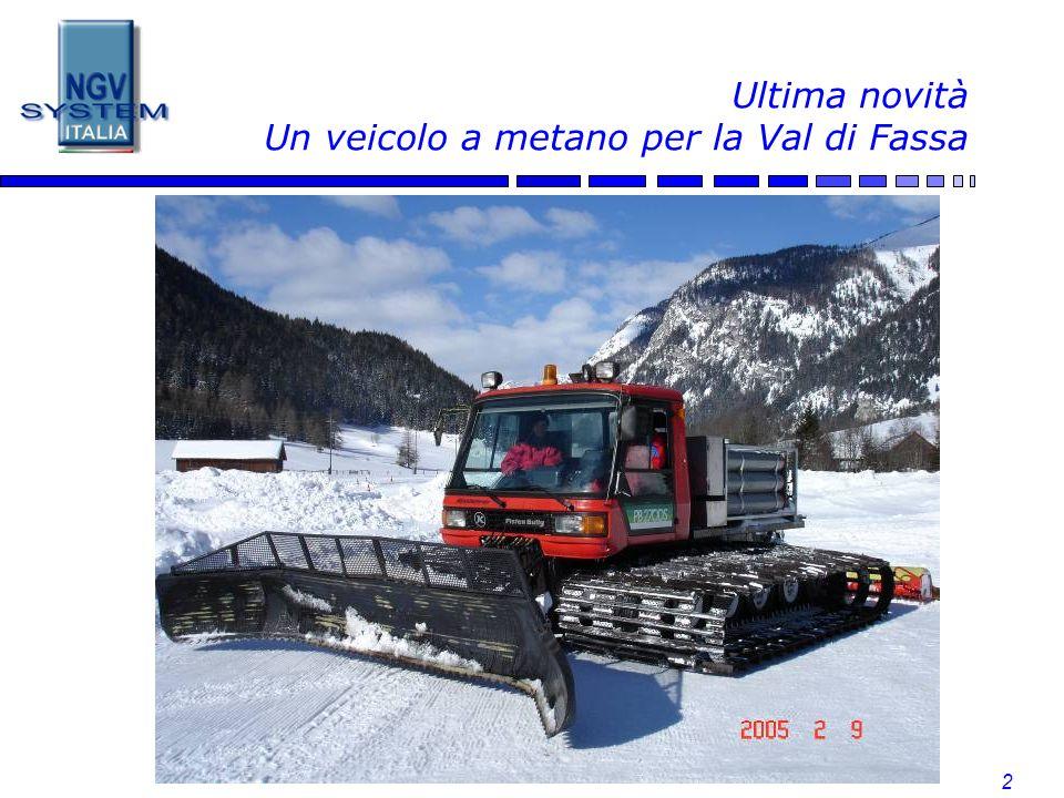 Ultima novità Un veicolo a metano per la Val di Fassa