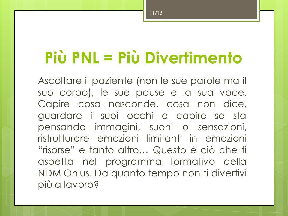 Più PNL = Più Divertimento