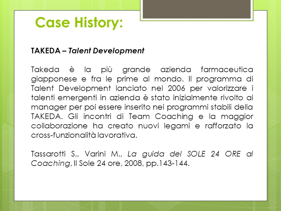 Case History: TAKEDA – Talent Development