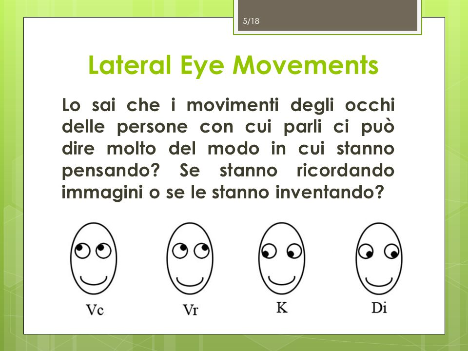 Lateral Eye Movements