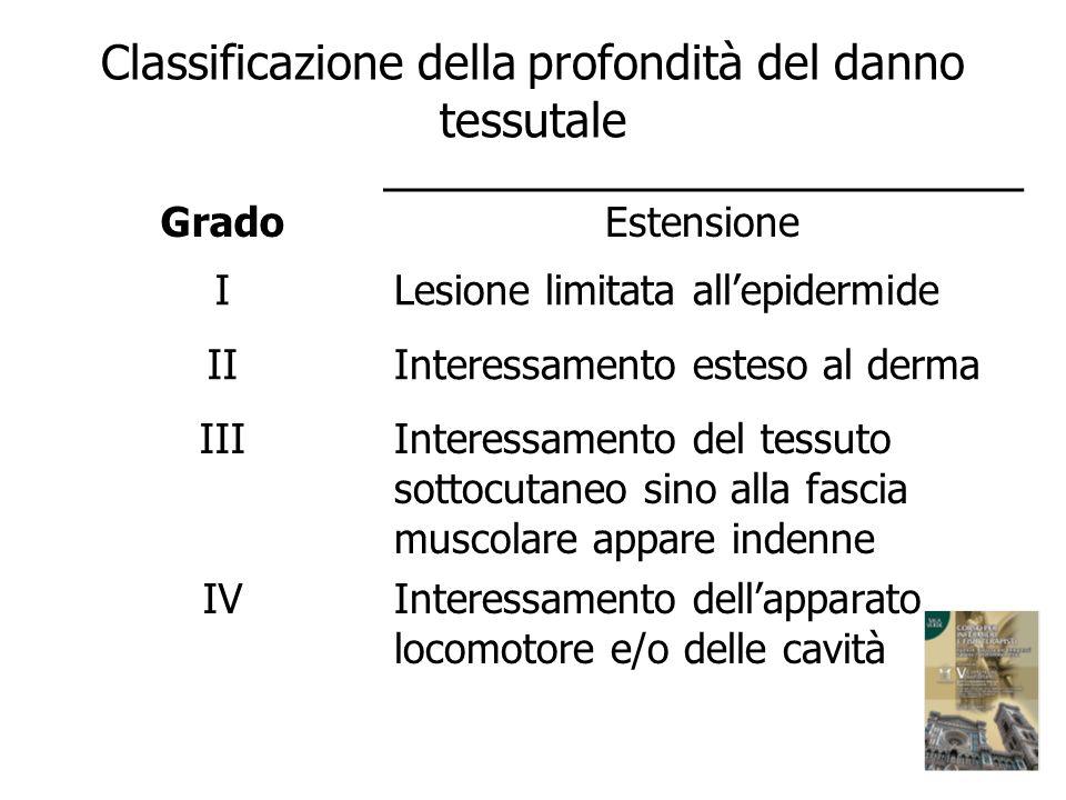 Classificazione della profondità del danno tessutale