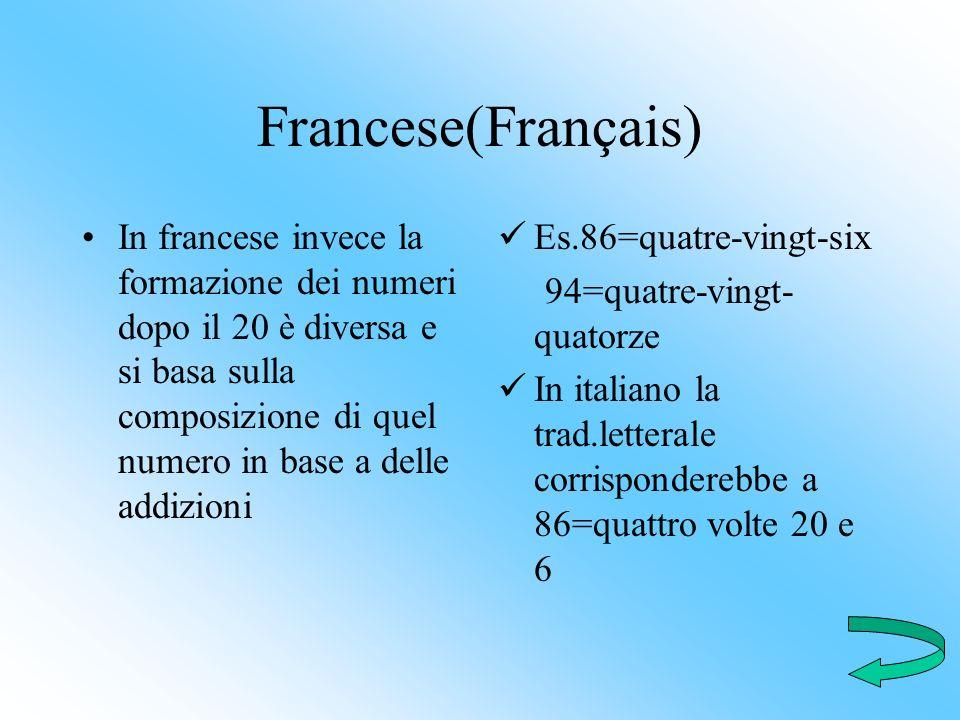 Francese(Français)