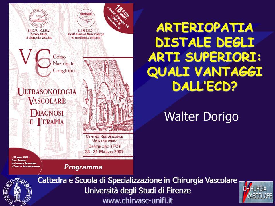 ARTERIOPATIA DISTALE DEGLI ARTI SUPERIORI: QUALI VANTAGGI DALL'ECD