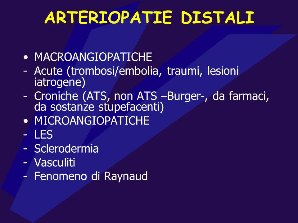 ARTERIOPATIE DISTALI MACROANGIOPATICHE