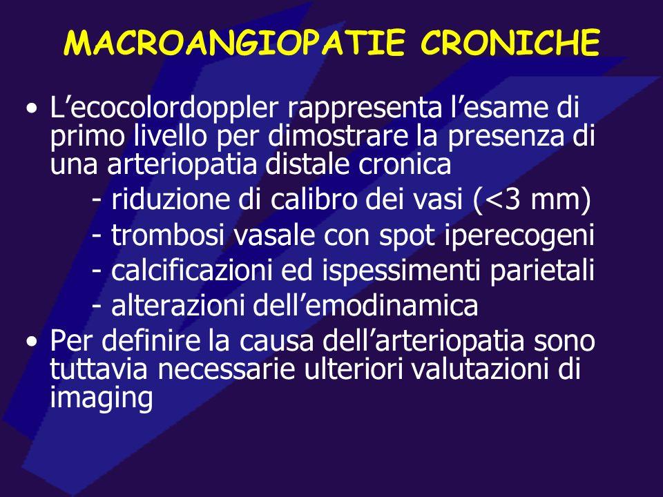 MACROANGIOPATIE CRONICHE