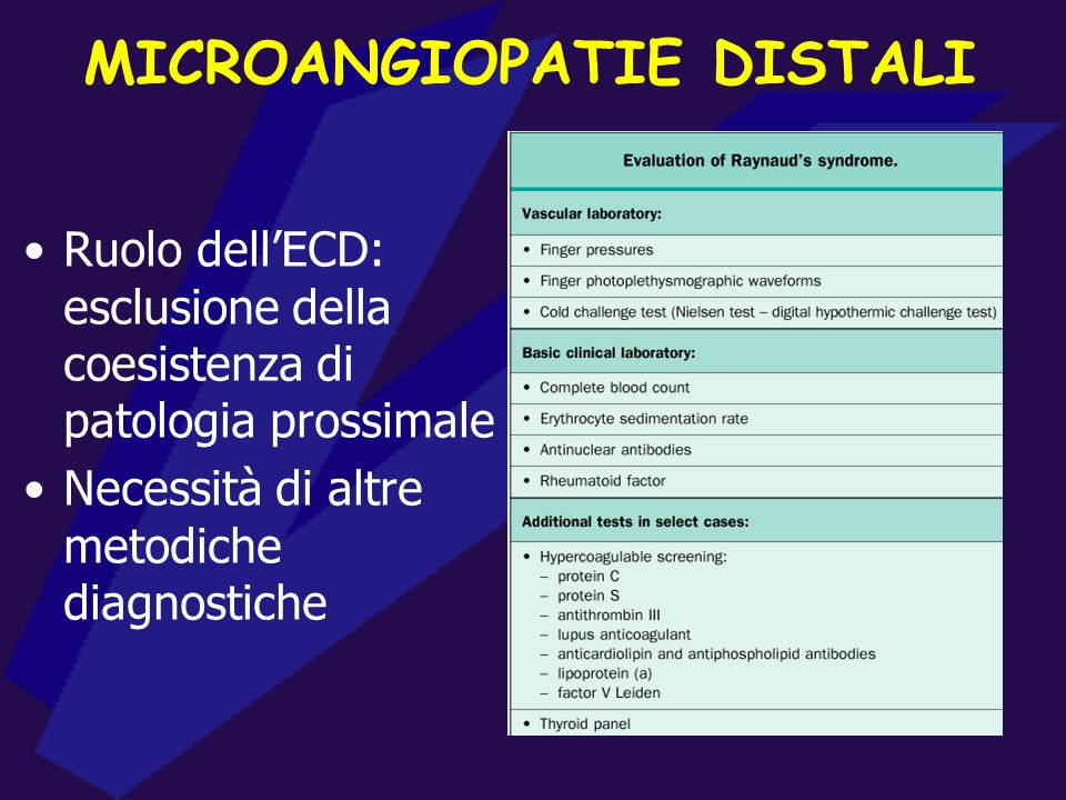 MICROANGIOPATIE DISTALI