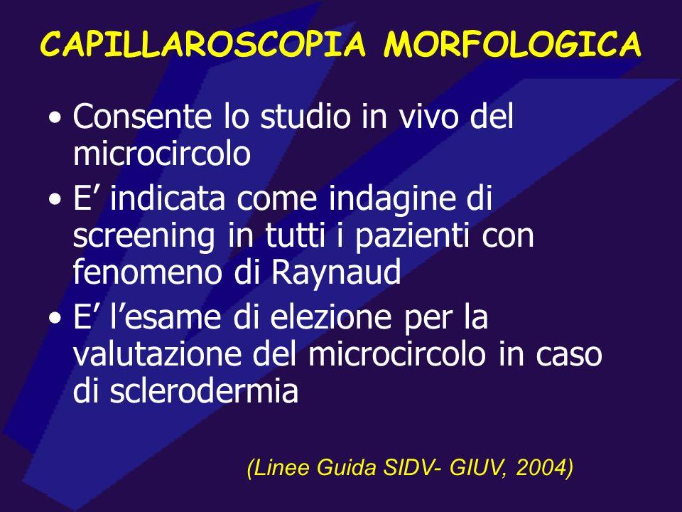 CAPILLAROSCOPIA MORFOLOGICA