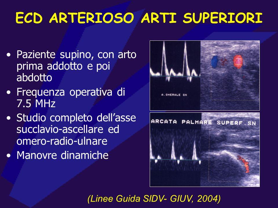 ECD ARTERIOSO ARTI SUPERIORI