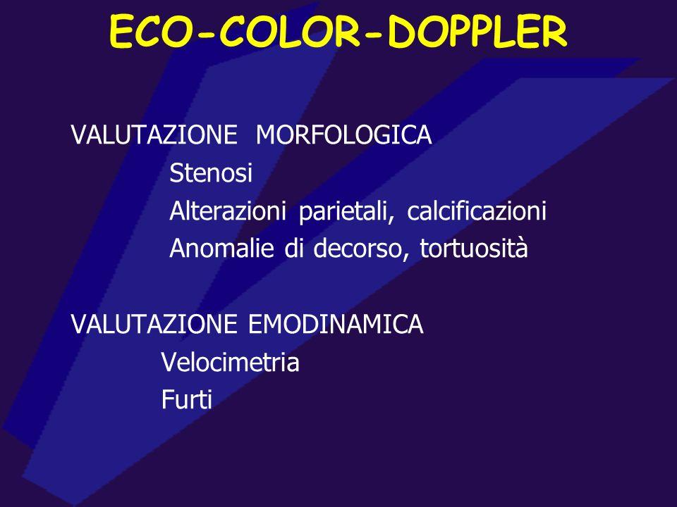 ECO-COLOR-DOPPLER VALUTAZIONE MORFOLOGICA Stenosi