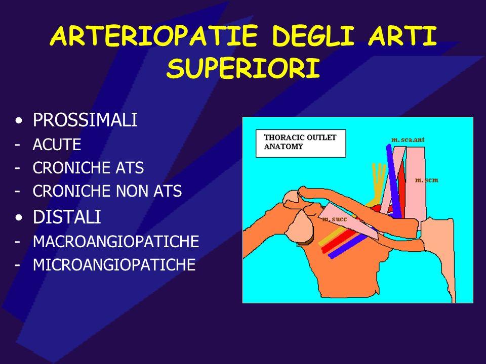 ARTERIOPATIE DEGLI ARTI SUPERIORI