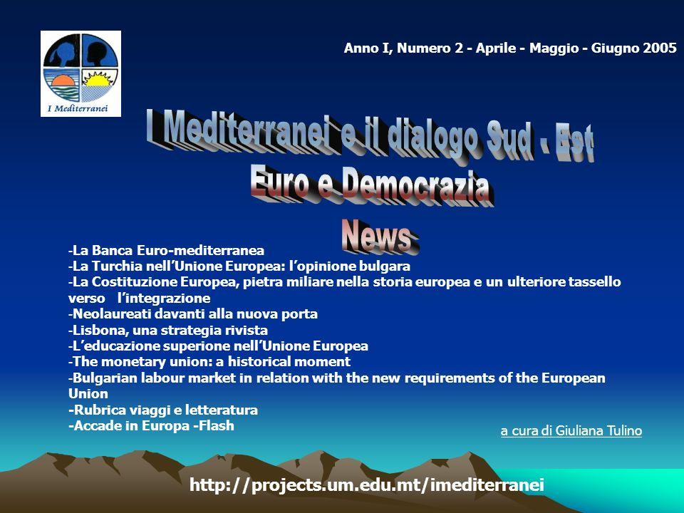 I Mediterranei e il dialogo Sud - Est