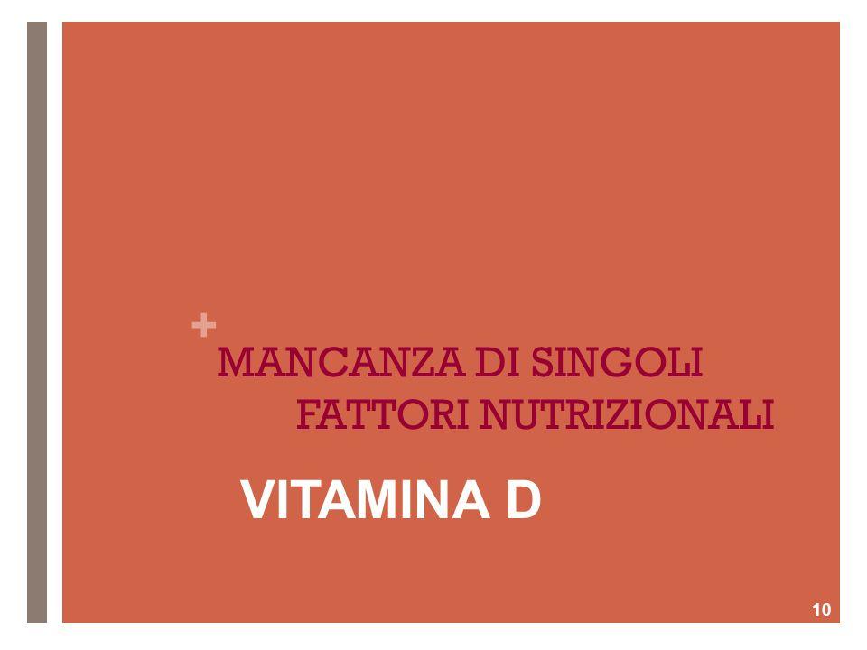 MANCANZA DI SINGOLI FATTORI NUTRIZIONALI