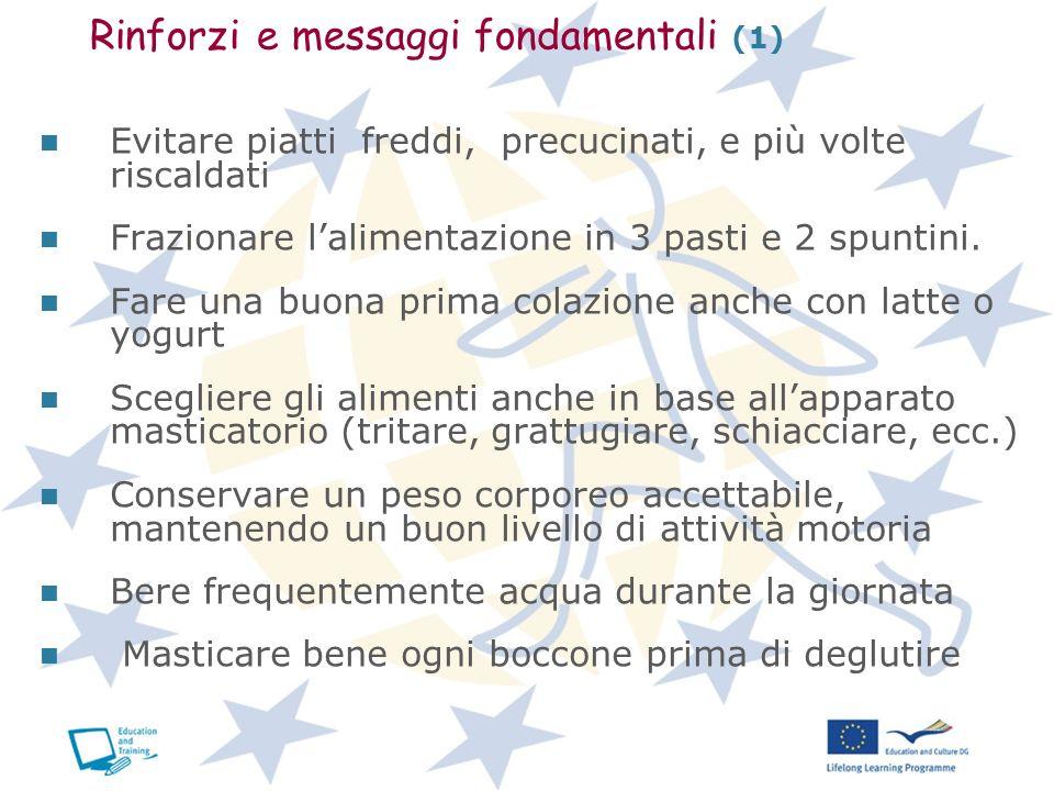 Rinforzi e messaggi fondamentali (1)