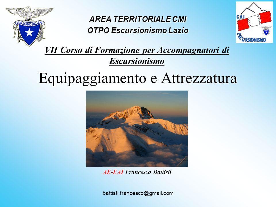 AREA TERRITORIALE CMI OTPO Escursionismo Lazio
