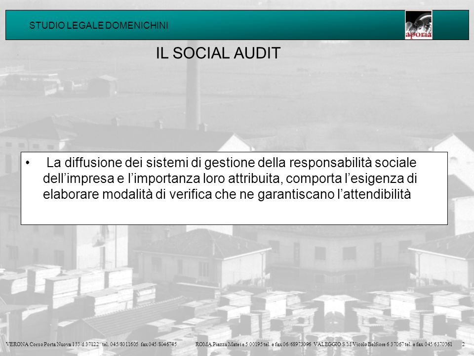 IL SOCIAL AUDIT