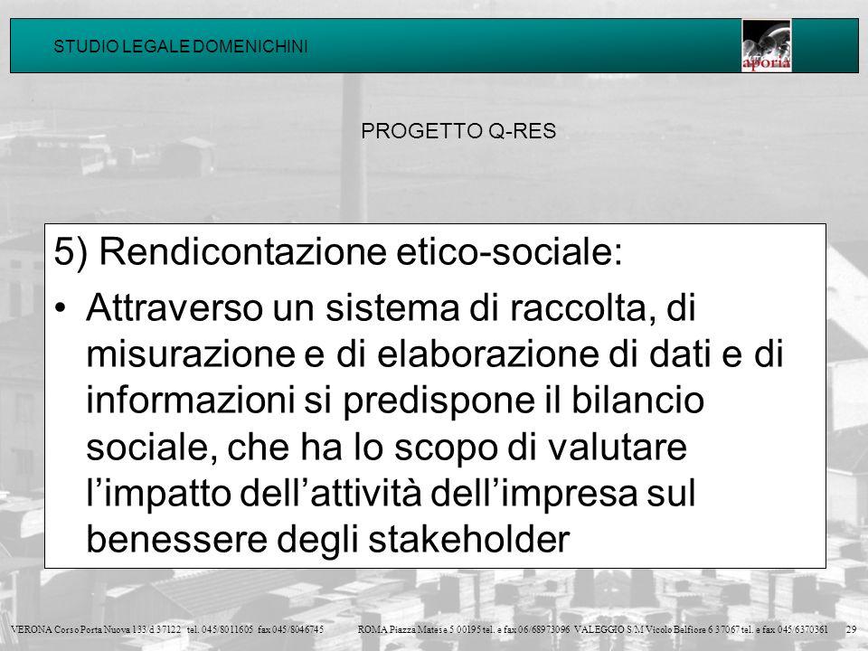 5) Rendicontazione etico-sociale: