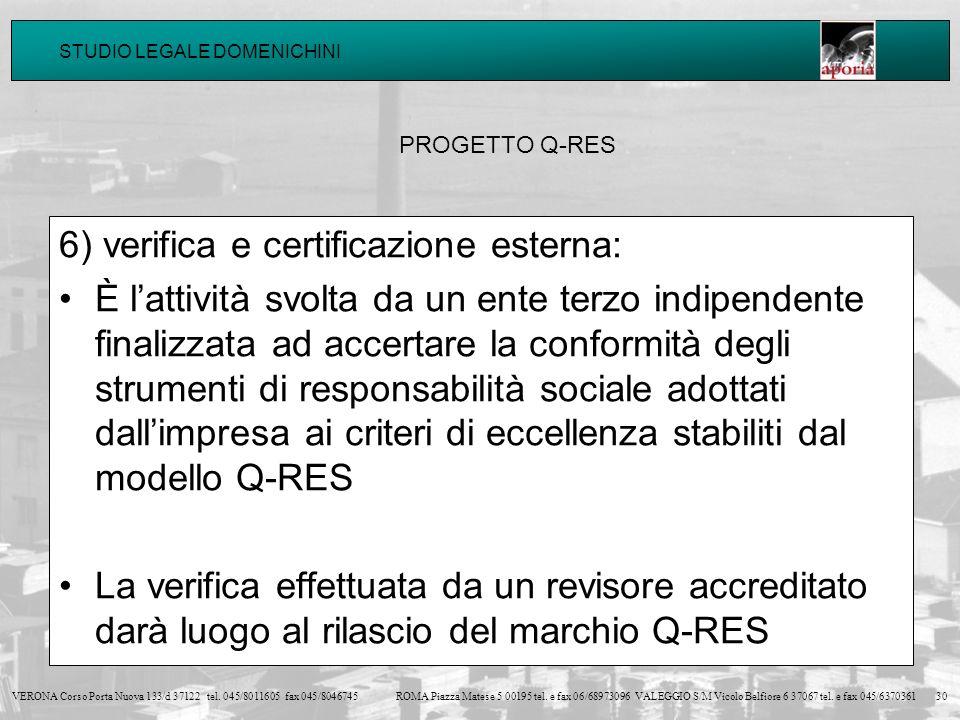 6) verifica e certificazione esterna: