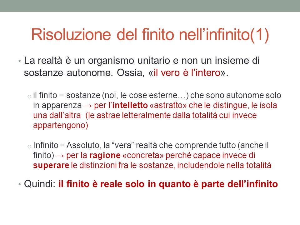 Risoluzione del finito nell'infinito(1)