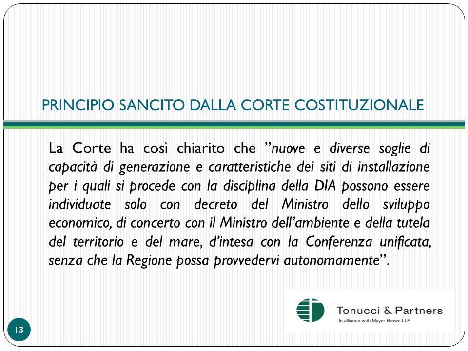 PRINCIPIO SANCITO DALLA CORTE COSTITUZIONALE