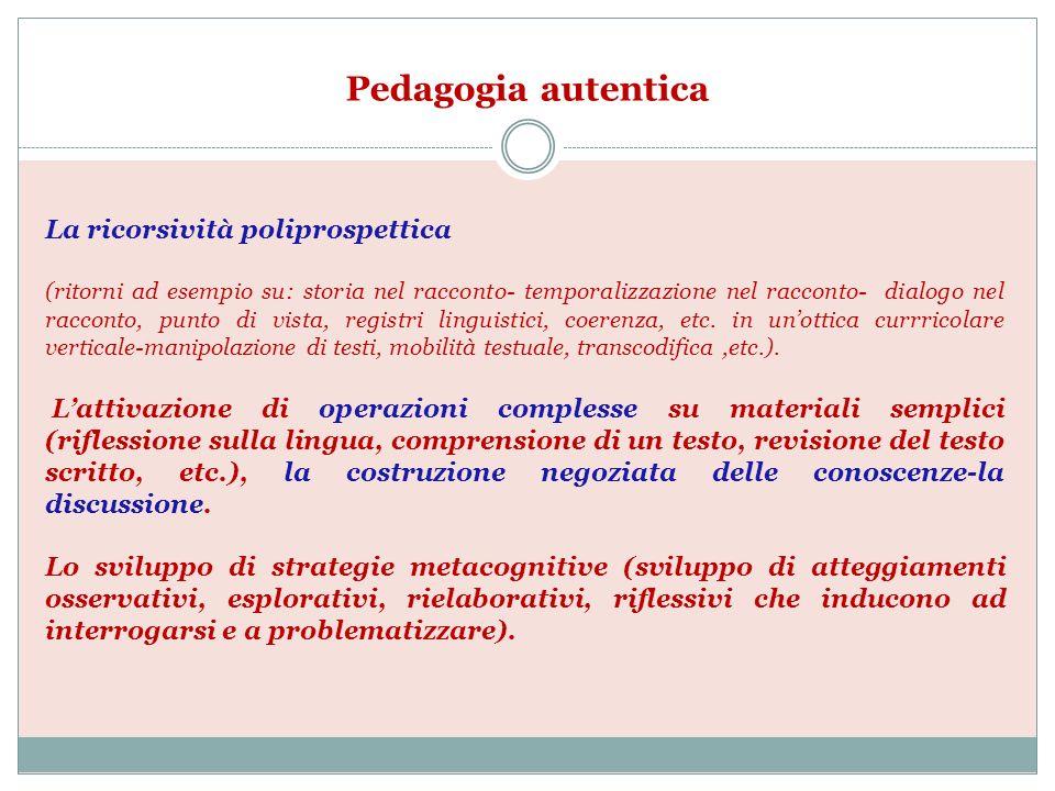 Pedagogia autentica La ricorsività poliprospettica