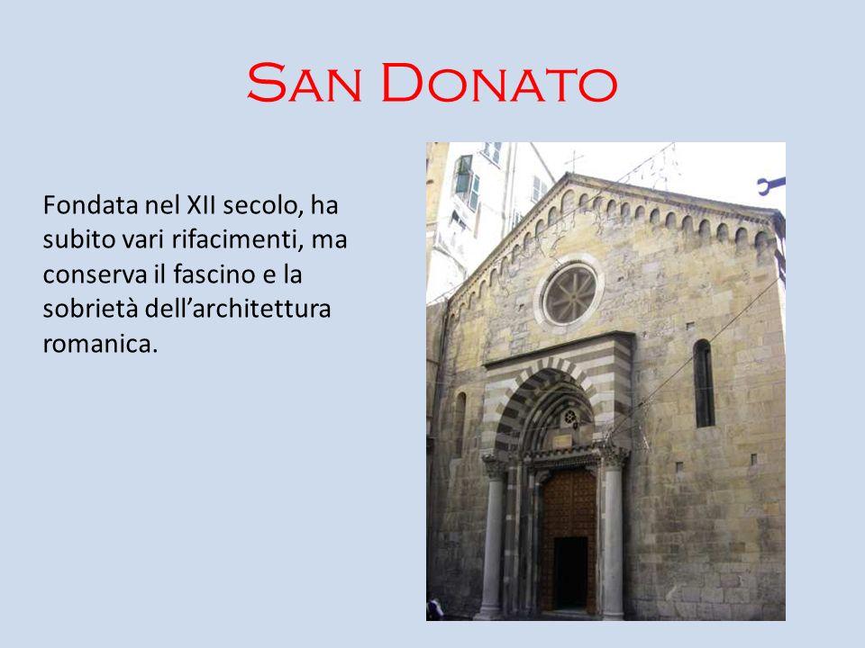 San DonatoFondata nel XII secolo, ha subito vari rifacimenti, ma conserva il fascino e la sobrietà dell'architettura romanica.